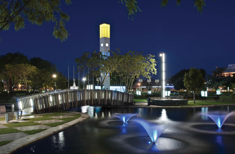 The Square at Night - courtesy of the Palmerston North City Council